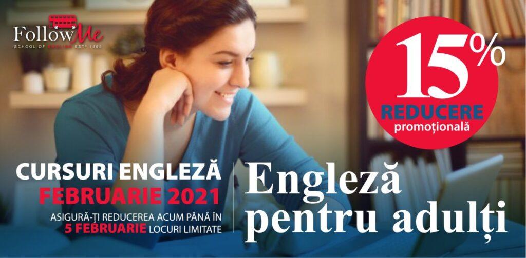 banner in care sunt prezentate cursurile de engleza de adulti online la Followme